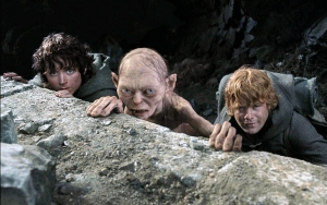 Frodo Sam and Gollum